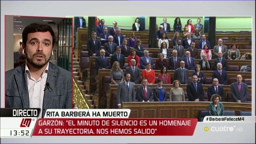 Alberto Garzón tampoco hubiera guardado el minuto de silencio en el Senado