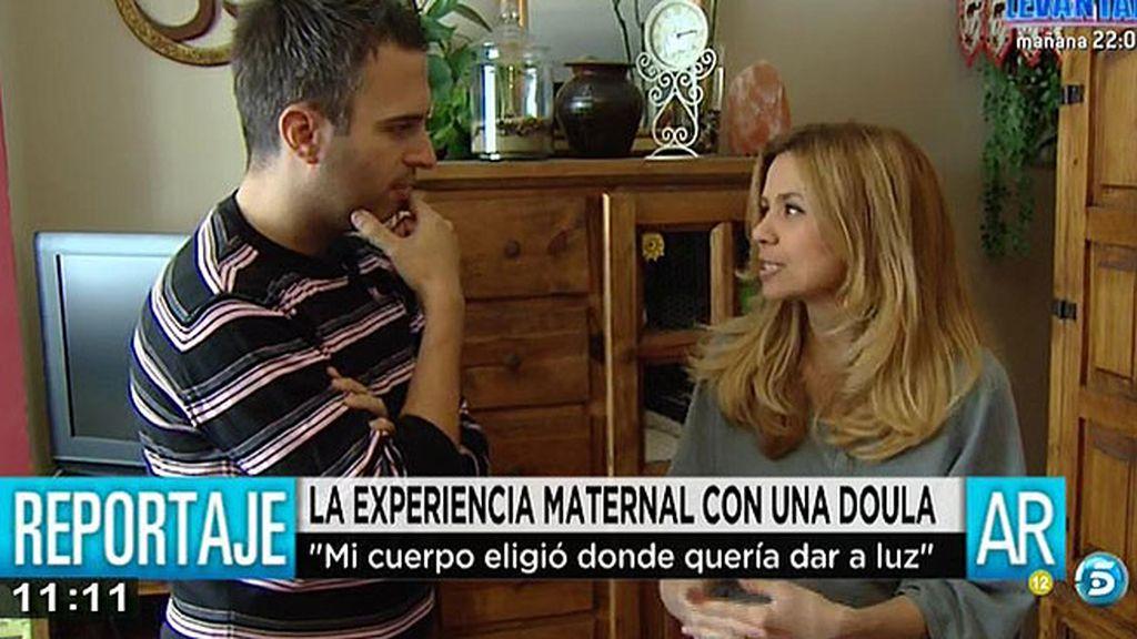 """Sandra, acompañada por una doula: """"En Macarena he tenido un apoyo emocional"""""""