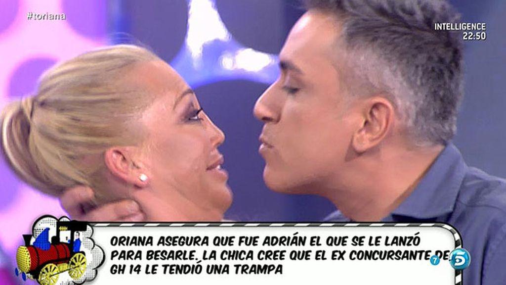 Kiko H. y Belén Esteban recrean el beso entre Oriana y Adrián, de 'GH 14'