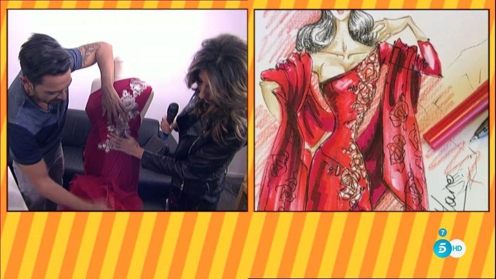 Carlos Haro reproduce el segundo vestido de la Pantoja a partir de las pistas que tiene