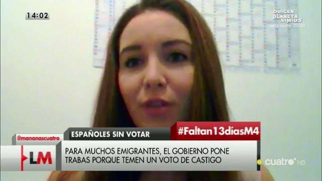 Una emigrante española explica las dificultades de votar viviendo en el extranjero