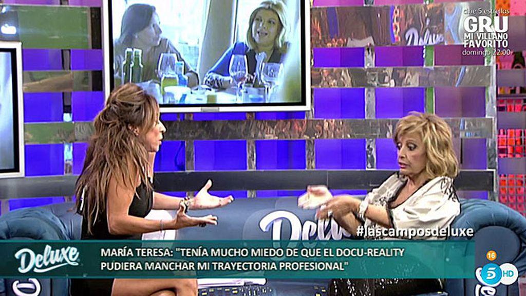 """María Teresa, a María Patiño: """"Terelu no es menos profesional que vosotras"""""""