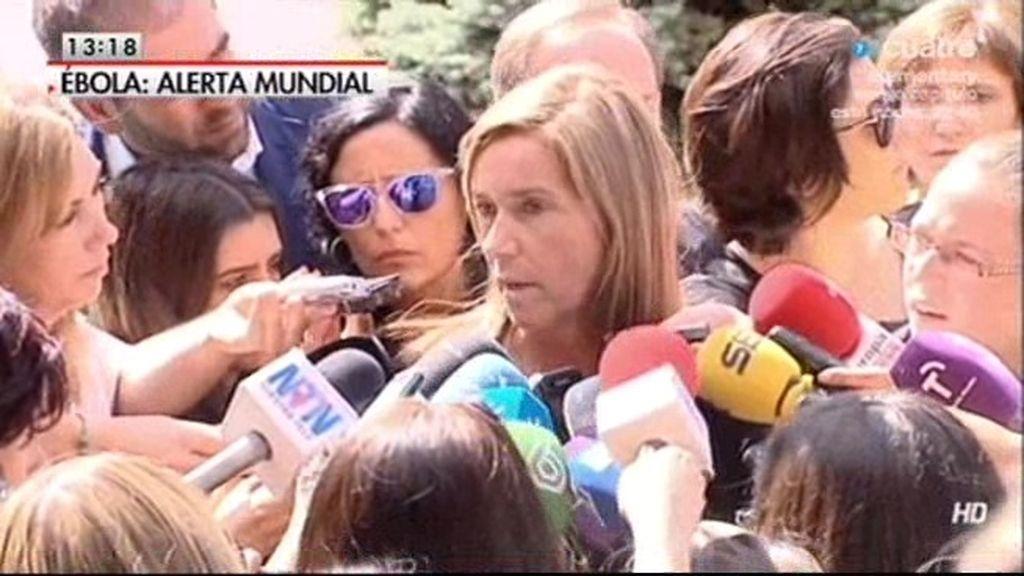 """Ana Mato: """"Lo importante en esta crisis no es que la ministra sea la protagonista"""""""