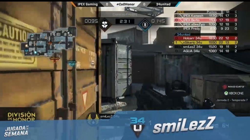 El jugador smilezZ se marca una gran racha de bajas contra IPEX Gaming
