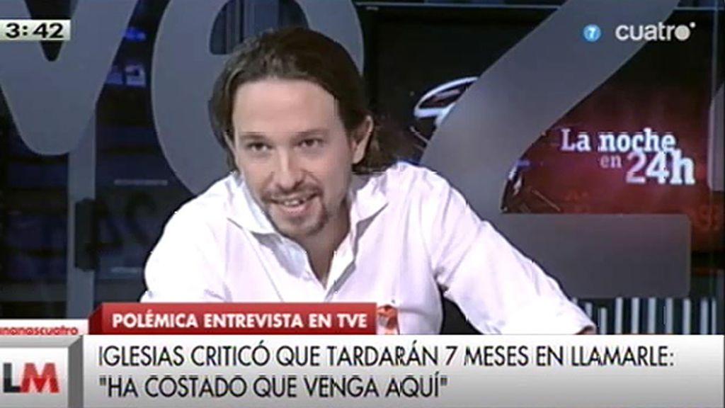 """El director del Canal 24 horas dijo a Iglesias que estaría """"de enhorabuena"""" por la salida de presos de ETA"""