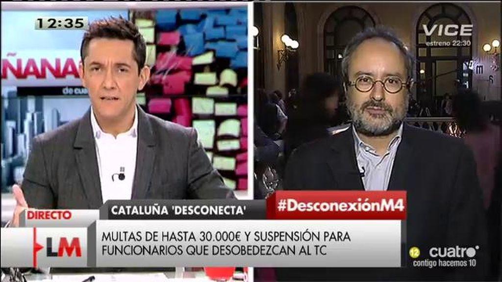 """""""Si el Constitucional desautoriza la desconexión de Cataluña, desobedeceremos"""""""