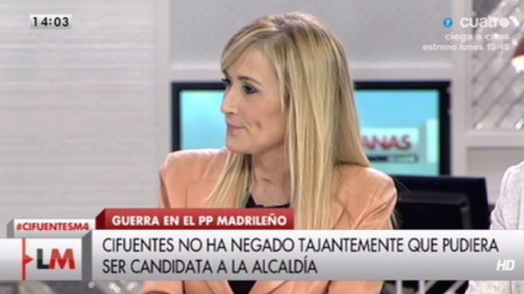 La entrevista a Cristina Cifuentes, online