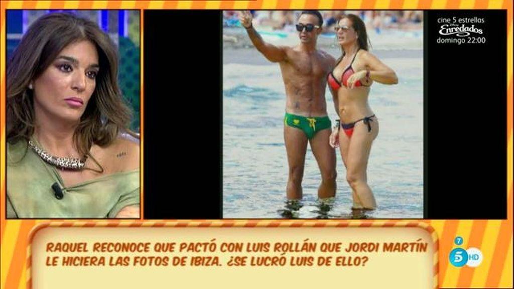 Raquel reconoce que pactó con Rollán que Jordi Martín le hiciese unas fotos en Ibiza