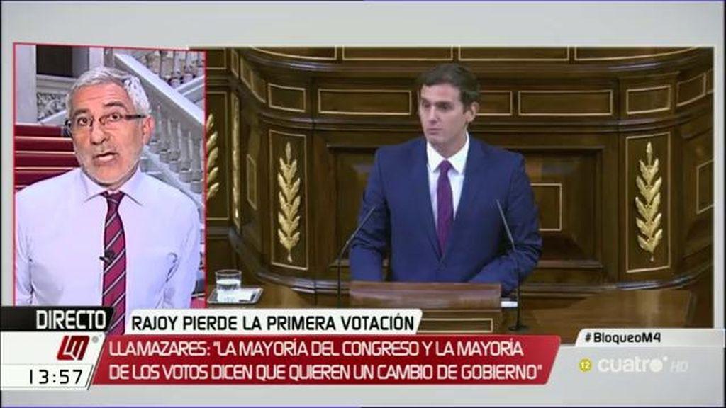 """Llamazaras: """"Se pueden superar las líneas rojas entre Ciudadanos y Podemos"""""""