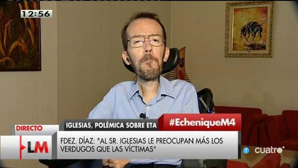 """Pablo Echenique: """"Pablo Iglesias no dice lo que dicen los titulares que dice"""""""