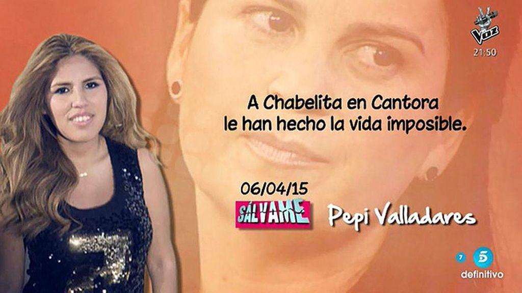 """Pepi Valladares: """"A Chabelita en Cantora le han hecho la vida imposible"""""""