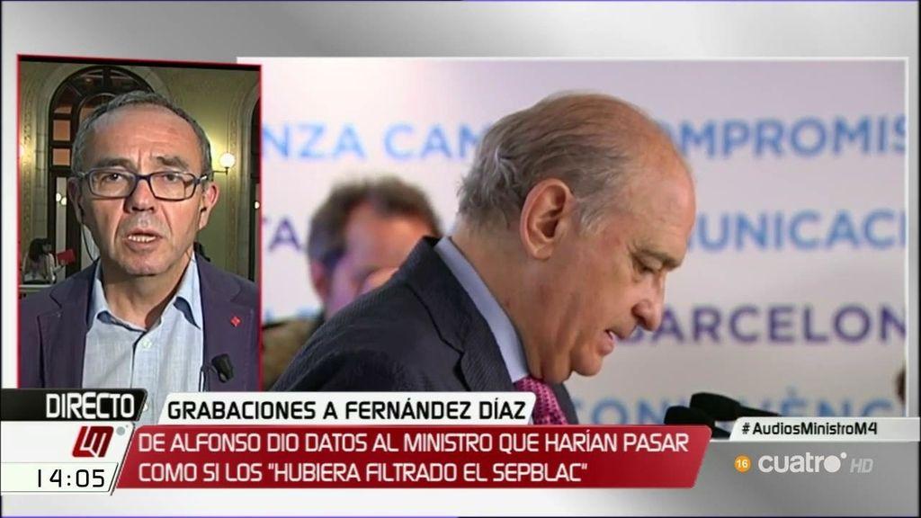 """Coscubiela: """"El PP ha votado en contra de la revocación para proteger el comportamiento indecente del ministro del Interior"""""""