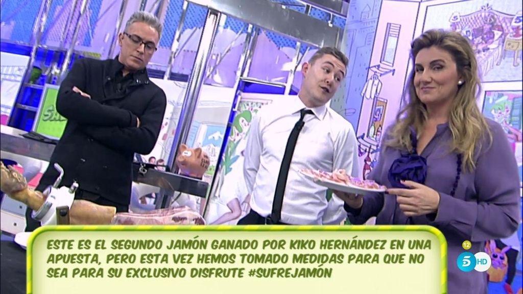 "Kiko Hernández, enfadado con Carlota: ""Para mí, este jamón está profanado"""