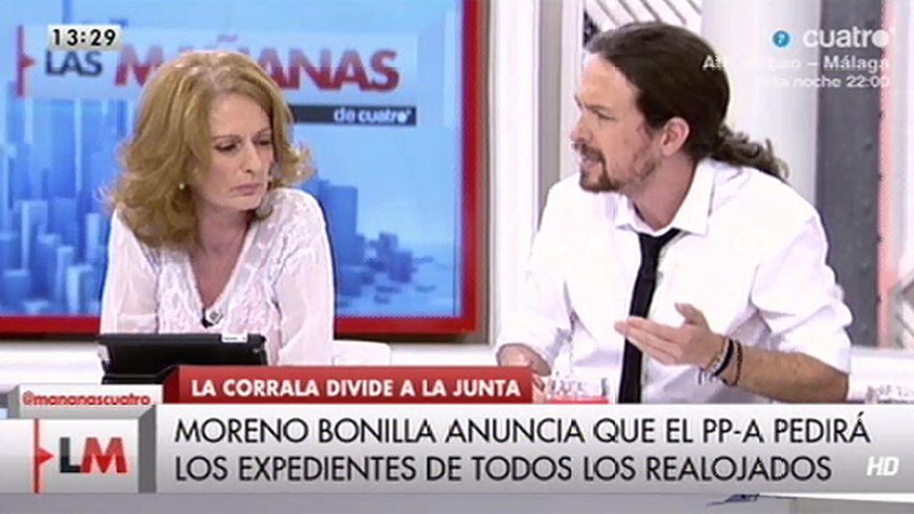 El pique de Pablo Iglesias y Alicia Gutiérrez