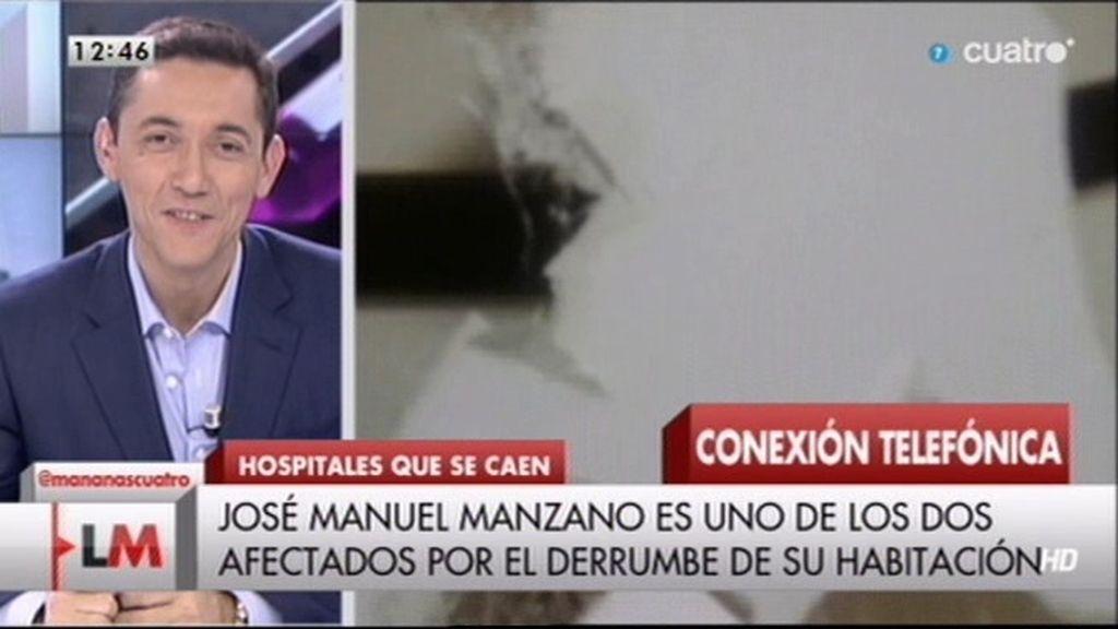 Se derrumba el techo de una habitación en el hospital de Puertollano