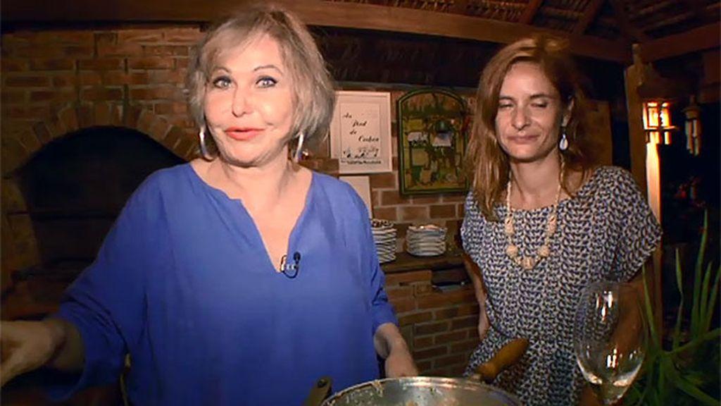 Pepita Rodríguez, una popular actriz, demuestra sus dotes culinarias