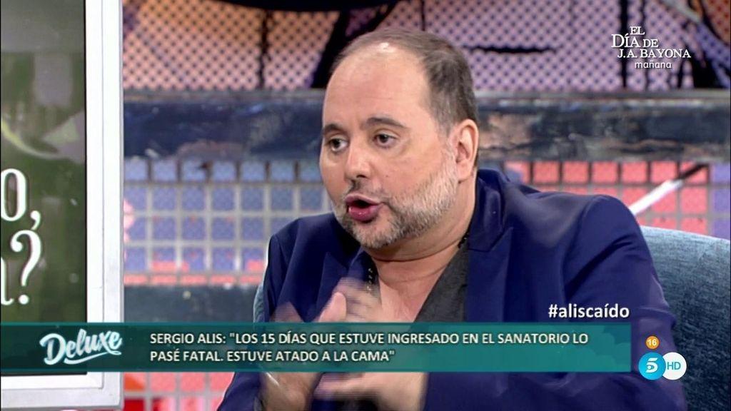 """Sergio Alis: """"Ingresé en el hospital por mi adicción y me ataron a una cama"""""""