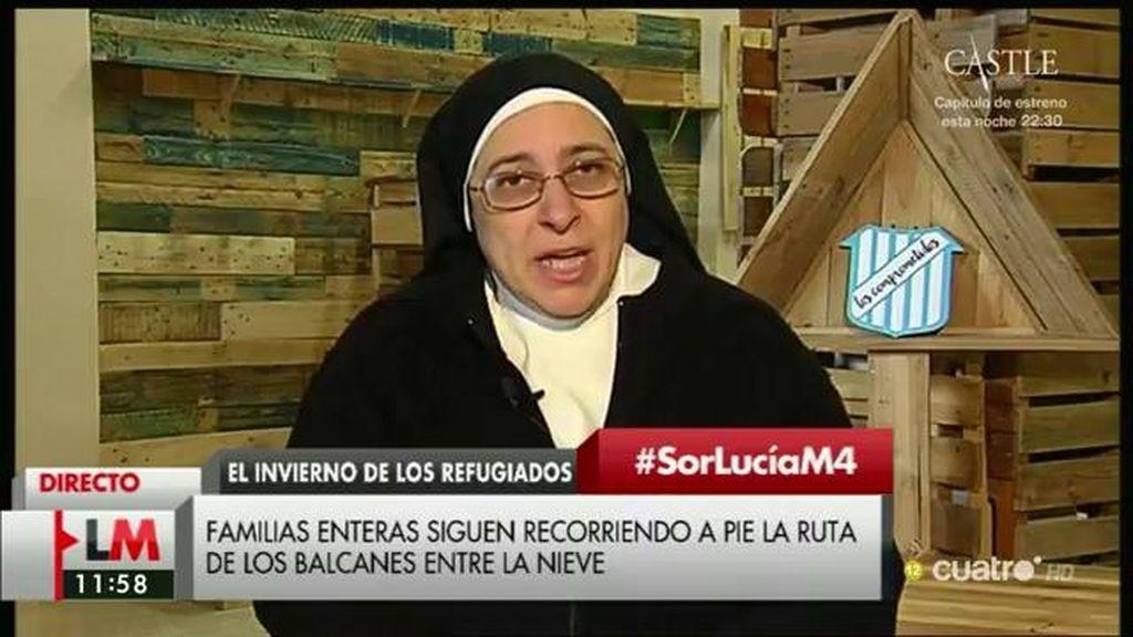 """Sor Lucía: """"Es un imperativo moral acoger a gente y presionar al gobierno para que las parroquias podamos acoger a familias"""""""