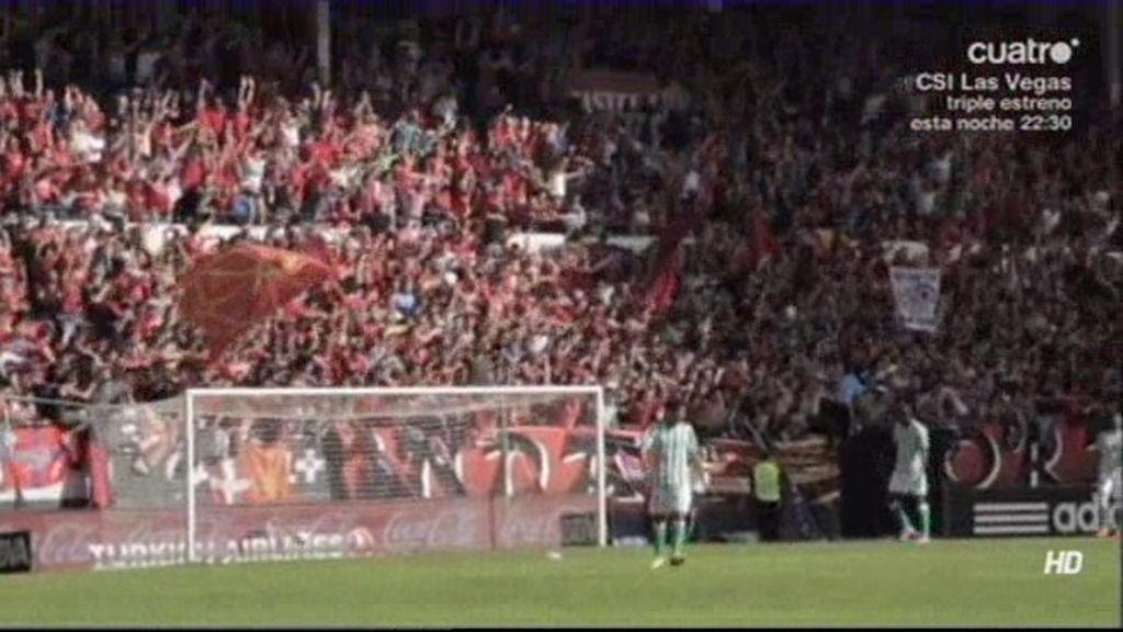 Se rozó la tragedia en El Sadar por la caída de una valla en la celebración del gol