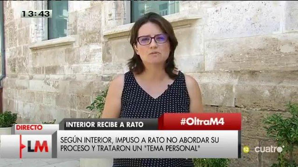 """Oltra, de Fernández Díaz: """"Uno no recibe a sus amigos en el Ministerio, y menos a amigos en esta situación procesal"""""""