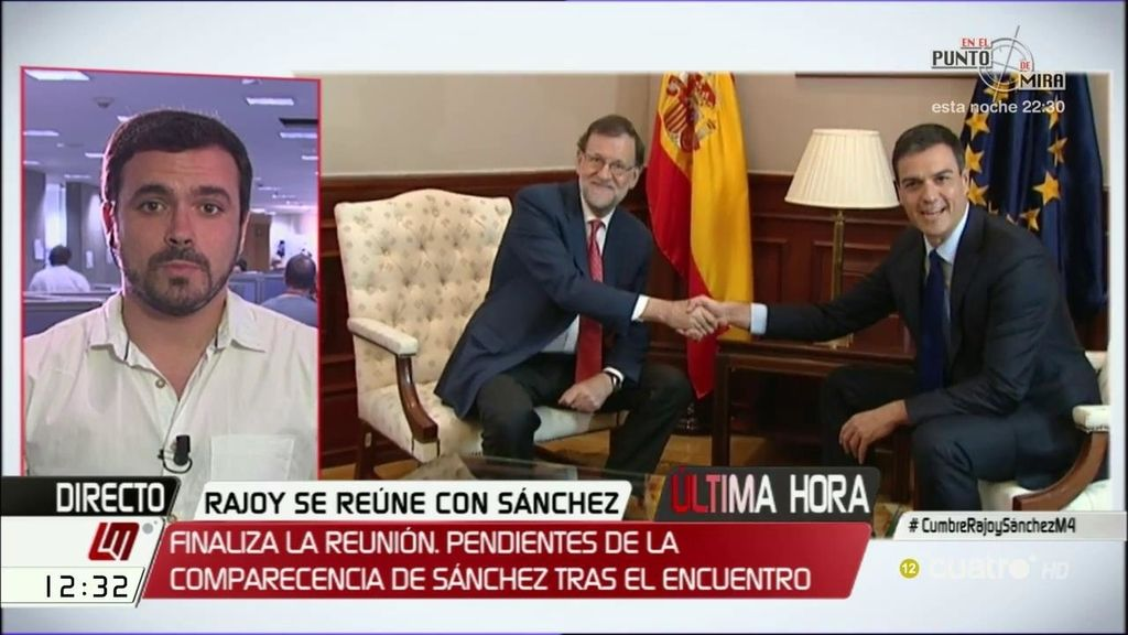 La entrevista de Alberto Garzón, a la carta