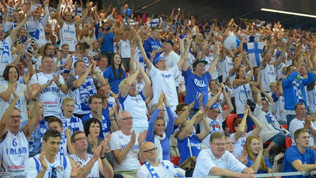 El mejor minuto de Finlandia llegó con dos triples seguidos en el tercer cuarto