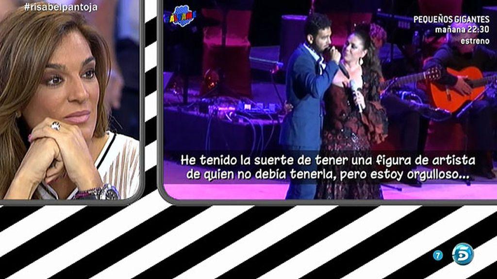 Manuel Cortés sorprende a Isabel Pantoja en su concierto de Córdoba