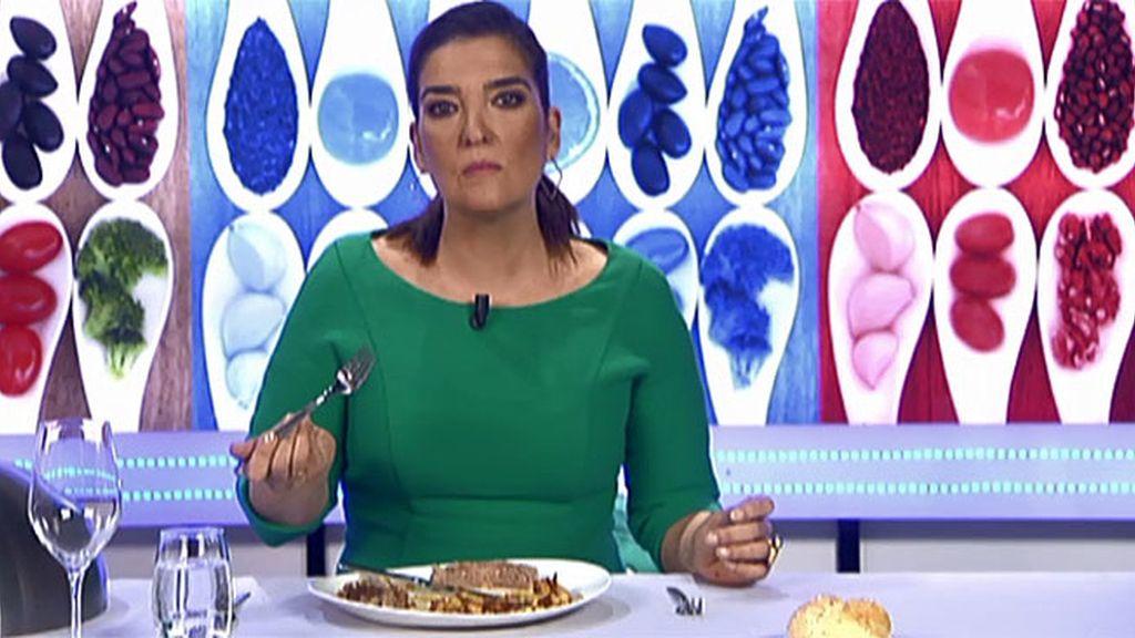 """María Jiménez Latorre, sobre las galtes de cerdo con butifarra: """"El aspecto es nefasto"""""""
