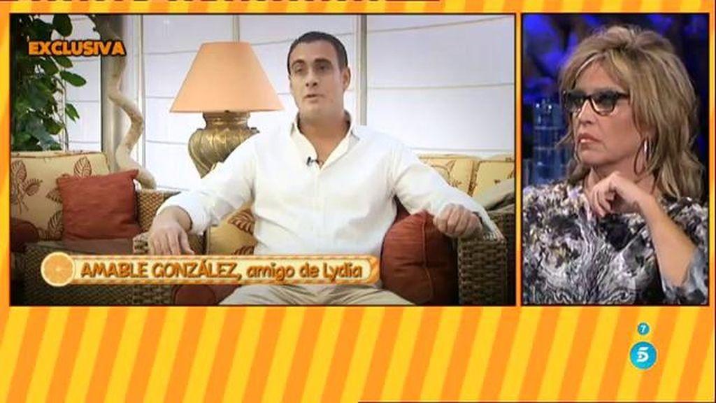 Amable González asegura haber tenido más que amistad con Lydia Lozano