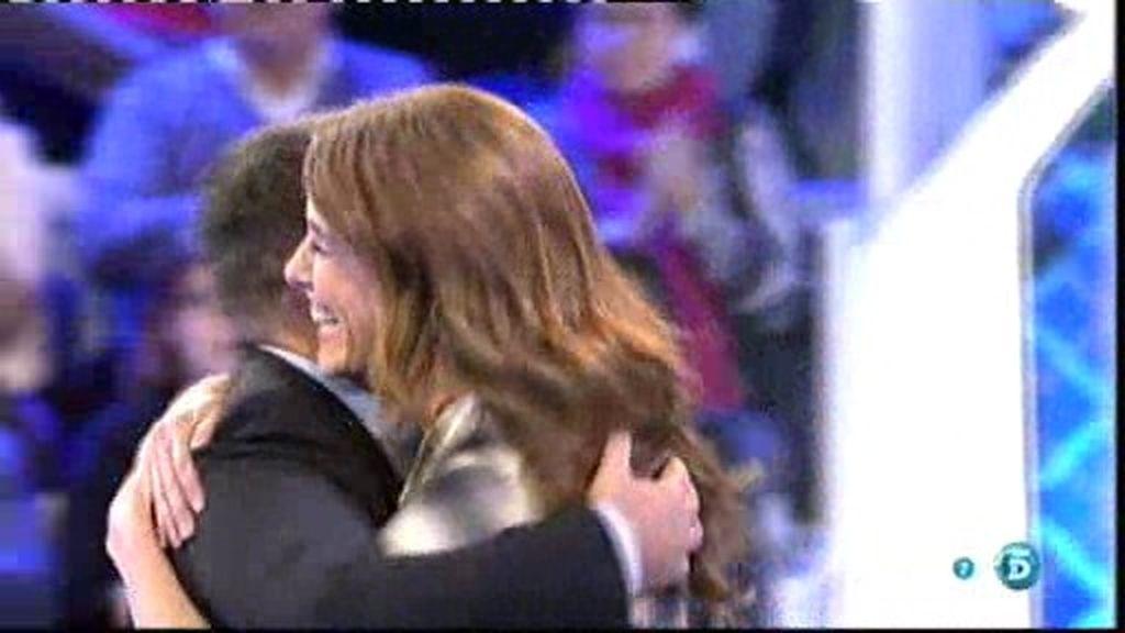 Raquel Sánchez Silva y Jorge Javier se reencuentran en el plató de 'Hay una cosa...'