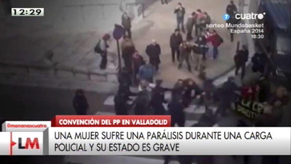 3 detenidos y 7 heridos en una protesta durante la convención del PP en Valladolid
