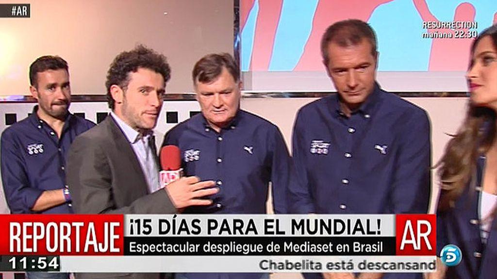 Mediaset presenta su espectacular despliegue para el Mundial de Brasil