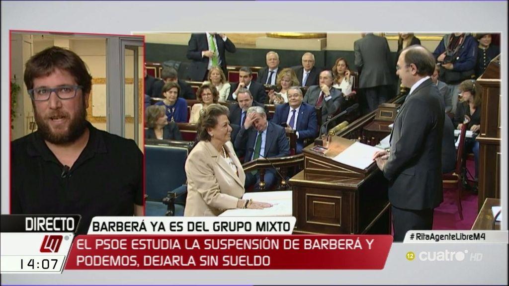"""Miguel Urban, de Rita Barberá: """"Si tuviera dignidad, tendría que renunciar a un cargo que se le dio para protegerla"""""""