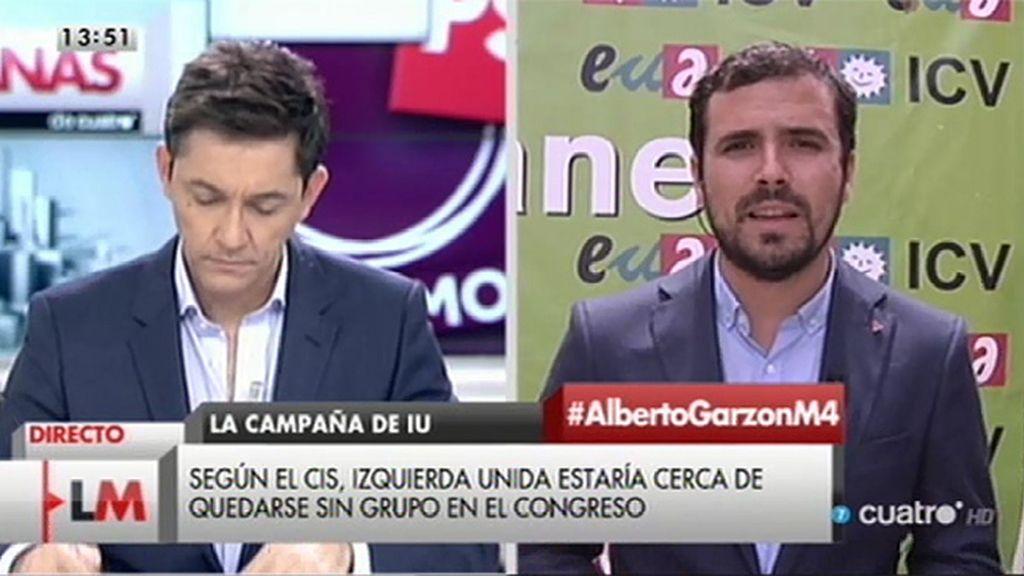 Alberto Garzón descarta pactar con el PP o con Ciudadanos