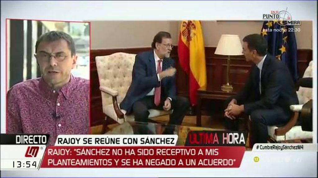 """J.C. Monedero: """"Rajoy no se retira porque no quiere y porque no puede"""""""