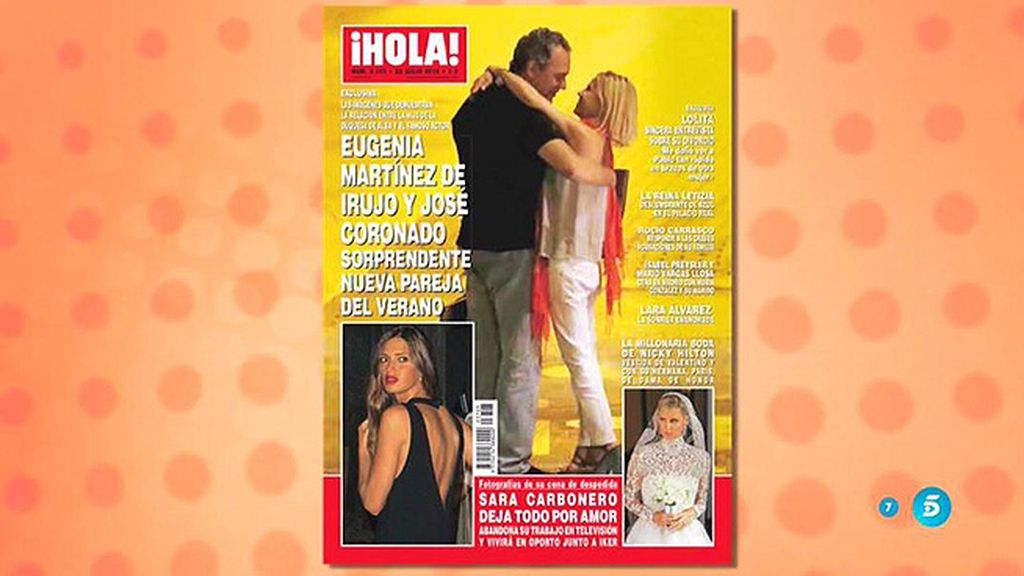 Las fotos que confirman el romance entre Coronado y Eugenia M. de Irujo, en '¡Hola!'