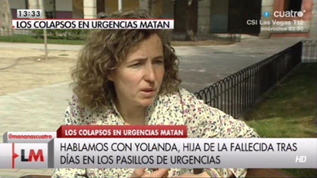 """Yolanda: """"Creo que los recortes están matando"""""""