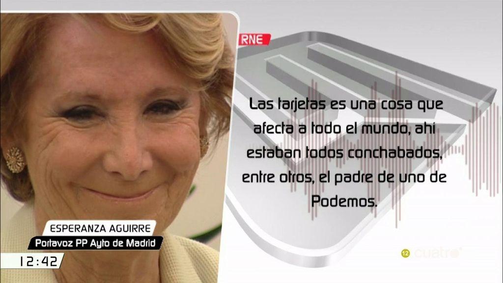 """Esperanza Aguirre: """"La filtración de en qué gastaron el dinero los de las tarjetas tuvo mucho que ver con la subida de Podemos"""""""