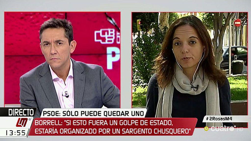 """Sara Hernández, PSOE Madrid: """"Estoy absolutamente con Pedro Sánchez"""""""