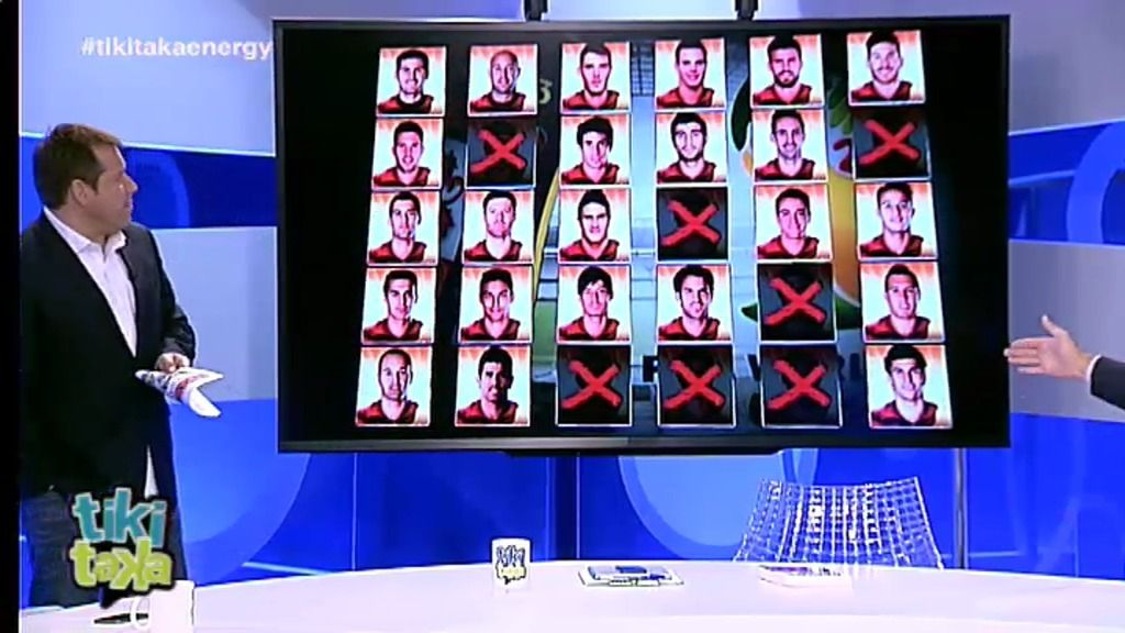 'Tiki Taka' se moja en los 7 descartes que hará Vicente Del Bosque para el Mundial