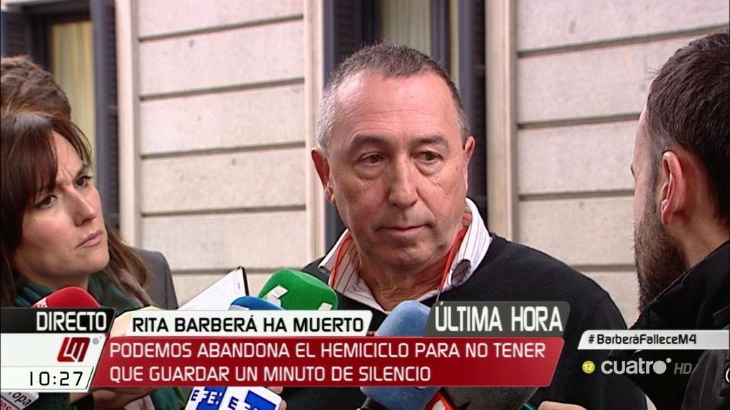 """Baldoví: """"Entendemos que era un homenaje a la persona y no a la figura política"""""""