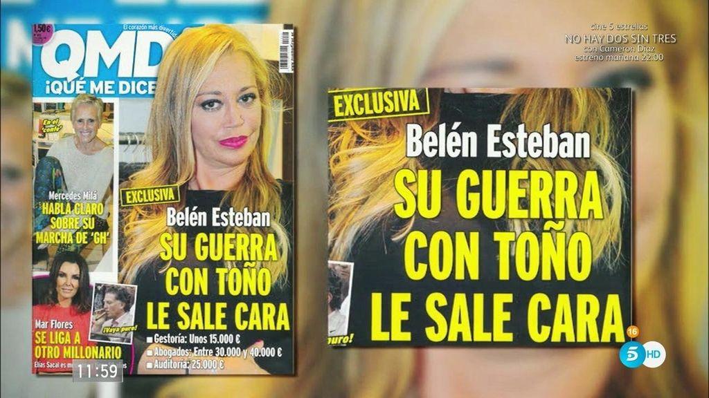 Belén Esteban lleva gastados 100.000 euros en su guerra judicial con Toño Sanchís