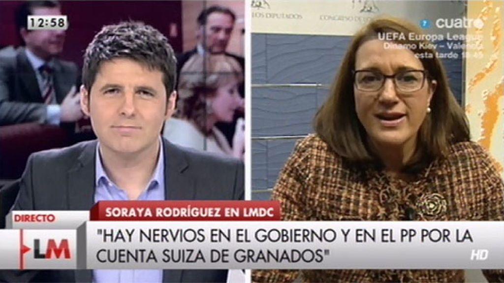 """Soraya Rodríguez: """"Un político no puede tener una cuenta en Suiza ni de 50€"""""""