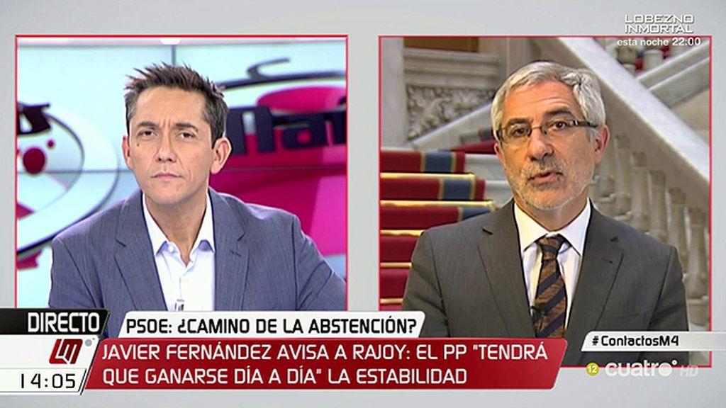 """Gaspar Llamazares: """"El mal mayor es la continuidad de Mariano Rajoy al frente"""""""