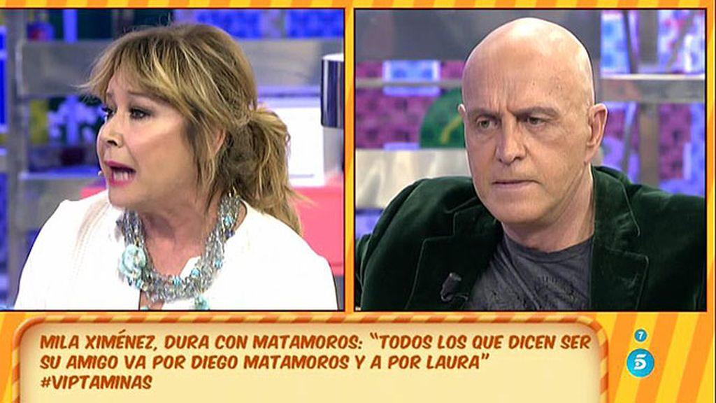 Mila Ximénez se proclama defensora de Laura y Diego Matamoros