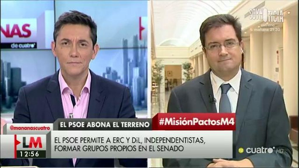 """Óscar López: """"No hay ningún pacto entre el PSOE y ninguna fuerza independentista"""""""