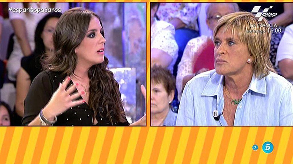 """A. Pantoja, a Chelo Gª Cortés: """"Es triste que enseñes mensajes de Isabel para presumir"""""""