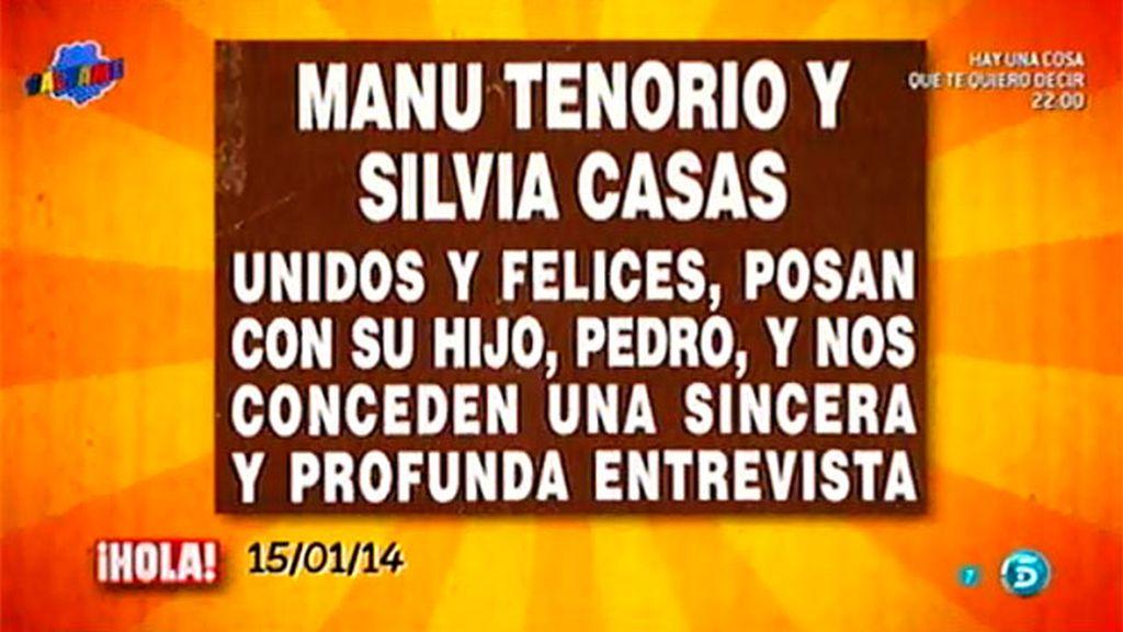 Manu Tenorio y Silvia Casas conceden una entrevista a la revista '¡Hola!'