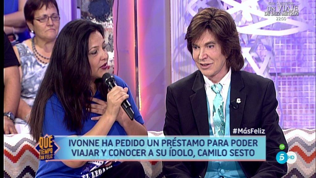 """Ivonne cumple su sueño y conoce a Camilo Sesto: """"Siento un amor inmenso por ti"""""""