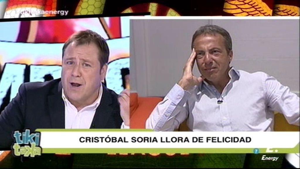 """Cristóbal Soria llora de emoción con la felicitación de El Arrebato: """"Somos grandes"""""""